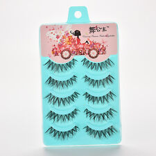 5Pairs Makeup Handmade Long Thick Cross False Eyelashes Eye Lashes Fashion HU