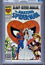 1)CGC 9.8-AMAZING SPIDER-MAN ANNUAL #21(1987)NEWSSTAND VARIANT(PETER/MJ MARRY)!!