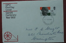 GB FDC GPO GANDHI CENTENARY YEAR 1969    FC 252