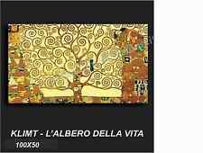 QUADRO MODERNO TELA 100X50 GUSTAV KLIMT L'ALBERO DELLA VITA ARTE