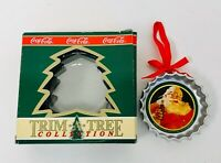 1990 Coca-Cola Co. Christmas Santa Ornaments Trim-A-Tree 2-Coke Trains  & 1-Coke