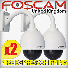 2x Foscam FI9828P External IP Camera WiFi 20M Night Vision 1.3MP HD CCTV Garden