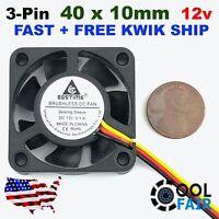 12V 40mm Cooling Fan 2//3pin DC Computer Case CPU Cooler 40x40x10mm 7 Blade