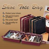 New Women Home 6 Pairs Shoe Organizer Storage Box Holder Under Bed Closet hw
