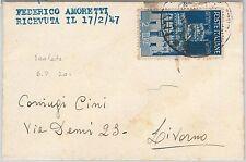 53992  - ITALIA REPUBBLICA - Storia Postale: AVENTO REPUBBLICA isolato su BUSTA