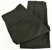 VINCE Womens Charcoal SOLID Tapered Leg Flat Front Wool Stretch Pants 12 NWT