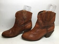 VTG WOMENS CORRAL CASUAL BROWN BOOTS SIZE 10 M