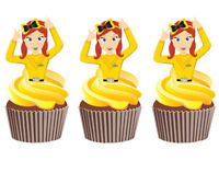 12 EMMA WIGGLE WIGGLES STAND UP EDIBLE CUPCAKE CAKE TOPPERS DECORATION IMAGES