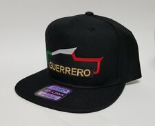 Guerrero Mexico Hat Black Snap Back Adjustable New