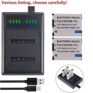 NB-11L battery or Slim USB Charger for Canon A3400 IS A4000 IS SX400IS SX410IS