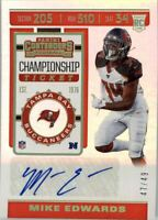 2019 Panini Contenders Championship Ticket #264 Mike Edwards Auto /49