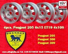 4  Cerchi Peugeot 205 306 309 Design 6x15 ET19 Wheels Felgen Llantas Jantes