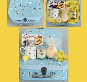 LADIES LARGE HONEY BEE PAMPER HAMPER GIFT BOX SET FOR HER BIRTHDAY FRIEND MUM