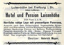 Heinrich Mayer Luisenhöhe b. Freiburg i.Br. HOTEL Historische Reklame von 1905