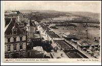 CPA France ~1910/20 TROUVILLE-REINE Plage Strand Beach Postkarte Frankreich