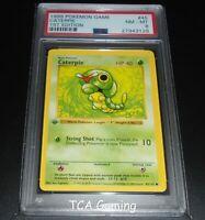 PSA 8 NM-MINT Caterpie 45/102 1ST EDITION Base Set SHADOWLESS Pokemon Card