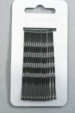 card of 15 black kirby hair grips 6.5cm