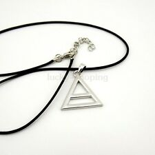 Thirty 30 seconds to mars triad triangle argent collier pendentif gratuit chaîne