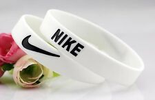 Nike White Black Elite Baller band rubber bracelet wristband unisex BEST RATED ^
