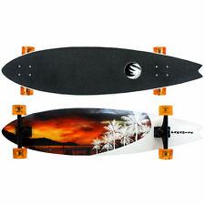 "Paradise Longboard Complete 9.5"" x 39.5"" Sunset Fish Shape Cruiser"