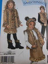 SIMPLICITY Pattern 2780 Daisy Kingdom Vest Coat Skirt Child's Size 3 4 5 6 7 8