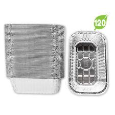 """120 Pack*  (Surplus) Aluminum Foil 1-LB Bread Loaf Pans Mini 6.1"""" x 3.7"""" x 2.0"""""""