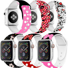 Minnie For Apple Watch Strap Mickey Mouse Soft Silicone Band For Series 2 3 4 5