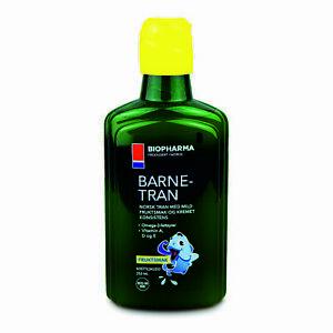 Premium Norwegian Norsk Barne Tran Fish Oil For Children Omega-3 250ml
