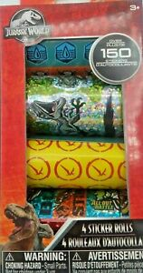 Jurassic Park World Dinosaur Stickers Brand New in Box 150 Stickers Scrapbooking
