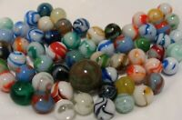60 Marbles Vintage WV Swirls Ravenswood Alley Agate HTF Chocolate Mint Shooter