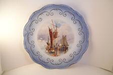 Vintage EEC E E C East End Pottery Co Decorative Cabinet Plate Ships Boats
