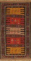 Tribal Sumak Kilim Hand-woven Area Rug Geometric WOOL Oriental 3x6 ft Carpet