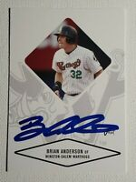 2004 Just Minors Brian Anderson Autograph Card White Sox, Red Sox, Warthogs Auto