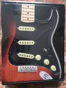 Fender Stratocaster Black Pickguard, Wired with Aged White Tex-Mex Strat Pickups