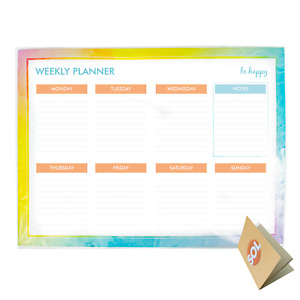 Weekly Planner Pad Daily To Do Food Meal List Organiser 52 Tear Off Sheets