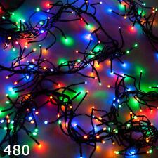 SUPER luminosi 480 LED Luce cluster di Natale multicolore 8 modalità Indoor Outdoor