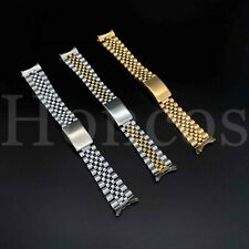 Curved Solid Links Jubilee Replacement Bracelet Watch Band Strap 13/19/20/21MM
