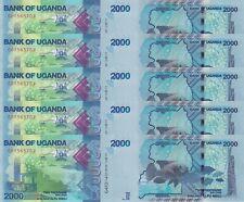 100 Shilings P31 /& 200 Shilligs /'88 UGANDA UNC NOTES 5 Shilings /'82 P58 P15