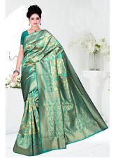 Banarasi silk saree new designer Indian wedding sari latest blouse