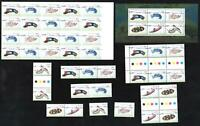 UNDERWATER WORLD STAMP MINISHEET, LARGE ADHESIVE BOOKLET, GUTTER PAIRS etc MINT