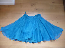jupe ample ALL SAINTS soie turquoise T 38