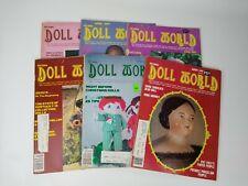 Vintage Doll World Magazine 1981 6 Issue Full Year Set Paper Dolls Patterns