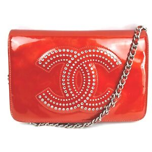 CHANEL Shoulder Bag COCO Chain Reds Patent leather 1512379