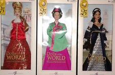 3 Barbie DOLLS OF THE WORLD  PRINCESS KOREAN COURT+ RENAISSANCE+ RUSSIA DOTW