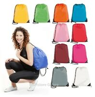 Drawstring School Book Bag Sports Gym Swim PE Dance Girls Boys Backpack Shoe Bag