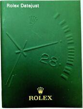 Rolex Datejust Besitzer Bedienungsanleitung Broschüre DEUTSCH 11/2010