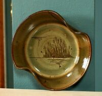 Wall Hanging Studio Pottery Ceramic Art Plate Wall Decor Earth Tones Nature