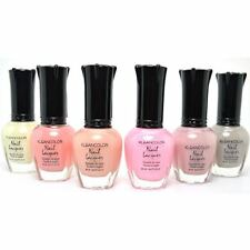 6 FULL KLEANCOLOR SHEER PASTEL NAIL SOFT POLISH SET