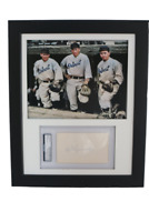 Detroit Tigers Colorized Catcher's Photo w/ PSA 3x5 signed Ray Hayworth