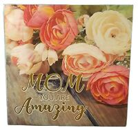 MOM AMAZING PLAQUE - Home Decor MOTHER Tabletop Plaque Sign - Wooden SALE